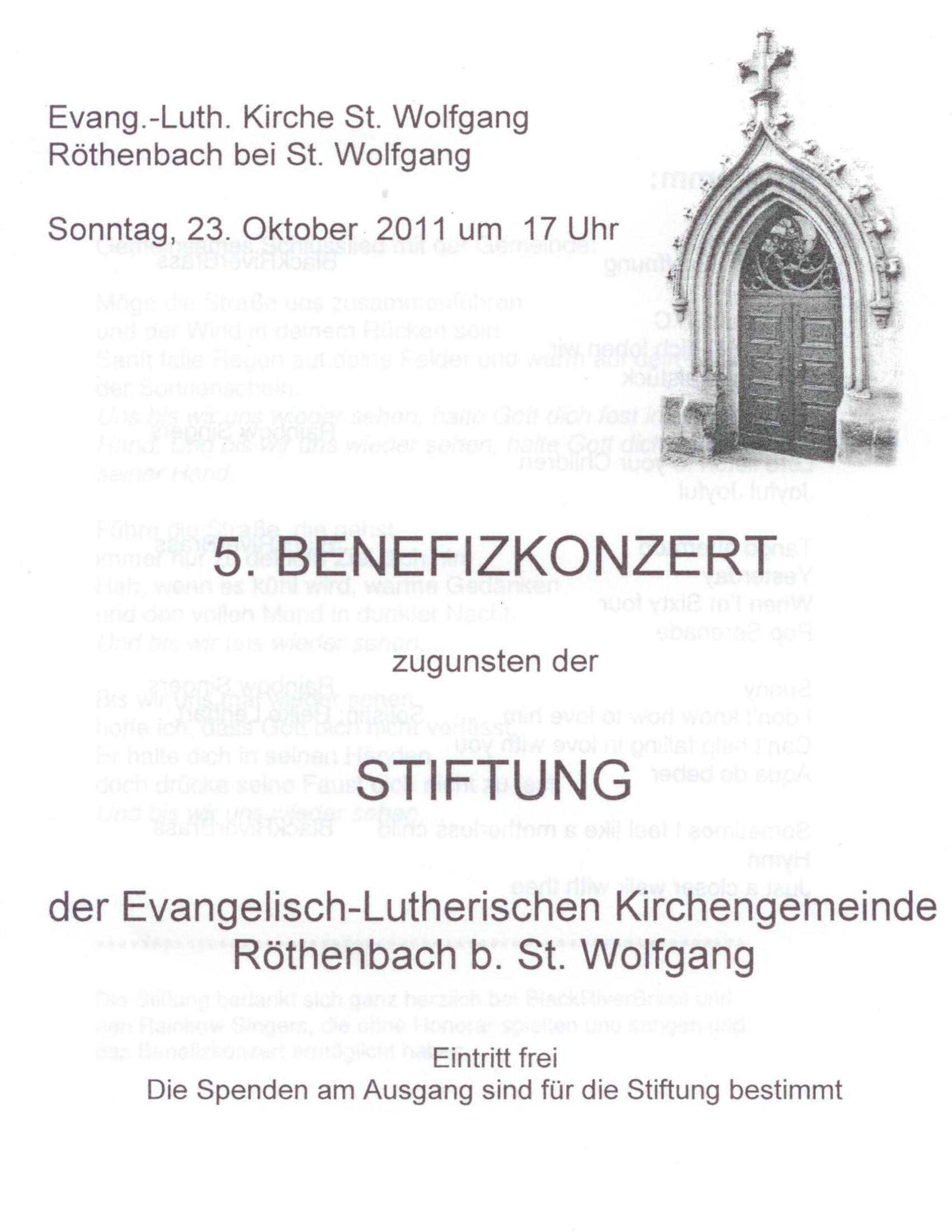 BRB Benefizkonzert Kirchenstiftung Röthenbah 23.10.2011