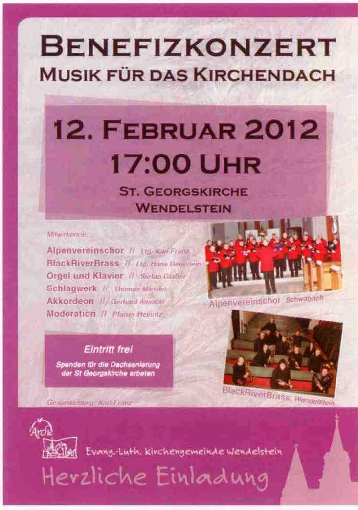 Plakat Alpenverein BRB Konzert Kirchendach WST 12.02.2012